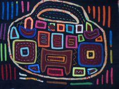 Kuna Indian CLUTCH PURSE Mola ART-Panama 15101916L