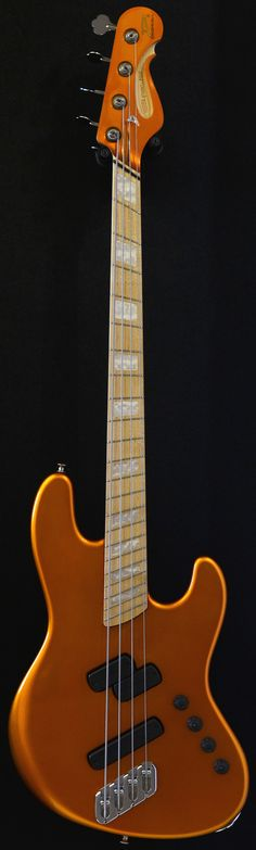 DINGWALL Super Jazz PJ4 four string bass (2011) | Bass Direct - fanned frets are a good idea of aging fingers.