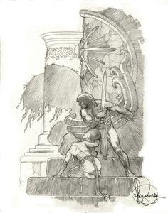 Mark Schultz  - Conan pencil prelim Comic Art