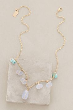 Ruebelle's Belltone Necklace of chalcedony and sleeping beauty turquoise
