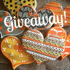 Dreaming of fall this Tag a friend to be entered into giveaway for these festive hearts! Enter as many times as you like,… Thanksgiving Cookies, Fall Cookies, Heart Cookies, Iced Cookies, Cute Cookies, Cupcake Cookies, Cupcakes, Halloween Cookies Decorated, Halloween Sugar Cookies