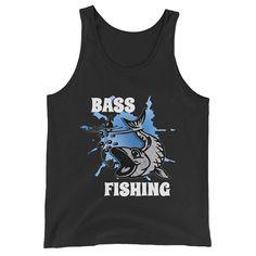 Bass Fishing Fishermen Fish Lovers Unisex Tank Top