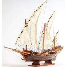 Xebec Wooden Model Ship (2)