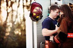 Ashlyn Joy Photography  Fire Fighter Engagement