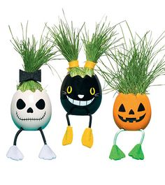 Handcrafted Halloween Pet Plants