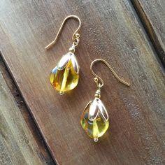 Baltic Amber Water Drop Earrings