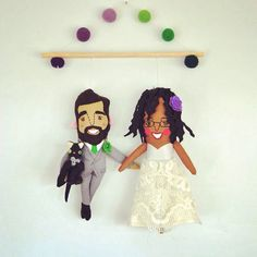 The Sweetest Couple Wedding or Anniversary Wall Hanging // Custom personalized wall art makes a great wedding or anniversary gift USD) by PinkCheeksStudios Interracial Love, Personalized Wall Art, Sweet Couple, Wedding Couples, Art Dolls, Anniversary Gifts, Disney Princess, Trending Outfits, Unique Jewelry