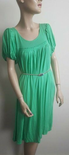 d87daedef0c9 🦄By Malene Birger Catjes Size XS 6 8 10 Green Tunic Smock Babydoll Dress  Top