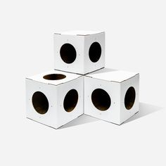 White Cat House 4 Pack Modular Cat House Cat Houses by Catlovebox