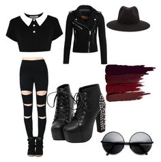 """""""Gothic grunge"""" by erinpepin on Polyvore featuring Superdry, rag & bone, ZeroUV, Killstar and Serge Lutens"""