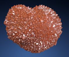 """Ferruginous Quartz (Jacintos) """"heart"""" with sparkling hedgehog-type crystals with inclusions of iron compounds / Chella, Spain"""