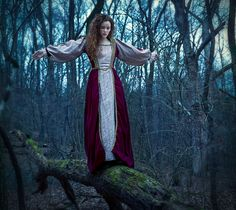 She slowly inched across the log tying not to think about the painful death she would meet on the river below...