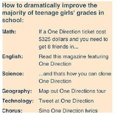 There should be a Directioner School!!!! Don't act like you've never even thought about it before. If we could make this happen I would be like super smart!