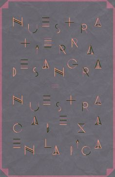 "Aymara Inca's typeface: ""We developed our Aymara type, designing a contemporanean inca's typography. Antique pre-colombian design...to reborn the forgotten artistic movements of a killed empire."""