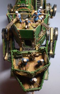 Steampunk Walker - Joe Harrison. The level of detail on this is amazing! This Steampunk Walker is manned and ready for war! Anyone think it would be cool for a Steampunk themed Warhammer game (Steamhammer)? The miniatures brought me back.