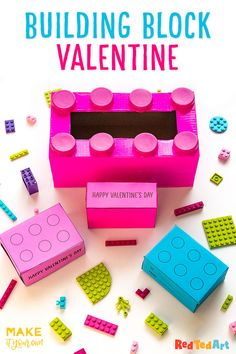 On Red Ted Art, we have some fabulous LEGO Valentine's Box & Printable Card Gifts for you! Check out how to make this fabulous upcycled LEGO Valentine's Box and make use of our Printable LEGO Card Boxes. What a fun way to gift to friends Valentine Boxes For School, Lego Valentines, Valentines For Boys, Valentine Day Crafts, Valentine Ideas, Lego Card, Diy Valentine's Box, Easy Crafts For Kids, Card Boxes