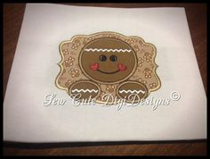 Gingerbread Lovers Design Pack - Featuring 3 Applique Designs - Instant Download