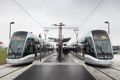 Citadis tramways. Inauguration of the T7 tramway line in Paris, France. Copyright: Alstom Transport / TOMA – V. Baillais