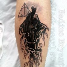 Dementor Tattoo by Nadine Bryant