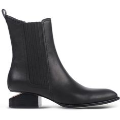 Alexander Wang Ankle Boots ($765) ❤ liked on Polyvore featuring shoes, boots, ankle booties, black, chelsea boots, black leather bootie, leather boots, black bootie и black boots