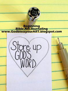 Beginning bible; art journaling; step by step; tutorial; www.godblessyourart.blogspot.com