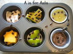 A is for Ants - Snack idea - How creative is this? I love it :-)
