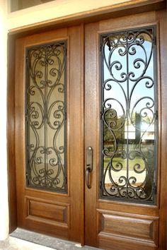 Milan Double Door - mediterranean - front doors - except I would want blue/aqua instead of wood - The Front Door Company
