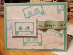 Using my carved stamp by Stampin' Up's Undefined stamp carving kit,  I looooove!