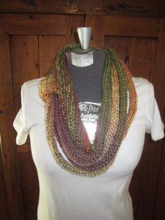 Hand Knit Infinty Loop Scarf by jenshubz on Etsy, $25.00