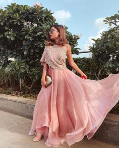 Indian Gowns Dresses, Indian Fashion Dresses, Indian Designer Outfits, Indian Party Gowns, Indian Designers, Indo Western Dress For Girls, Western Outfits For Women, Designer Party Wear Dresses, Dresses To Wear To A Wedding