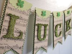 Patrick's Day Banner-my newest St. Patricks day banner Items similar to Lucky Banner / St. Patrick's Day Banner on Etsy Holiday Fun, Holiday Crafts, St. Patricks Day, Saint Patricks, St Patrick's Day Decorations, Polka Dot Paper, Paper Banners, St Patrick's Day Crafts, Bunting Garland