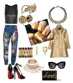 """Rihanna"" by boiicosmetics on Polyvore featuring Elie Saab, Karen Walker, Posh Girl, Ashish, Alice + Olivia, Joomi Lim, Eddie Borgo, Lanvin, women's clothing and women's fashion"