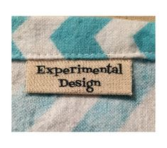 Custom Made Canvas Clothing Labels Iron by ExperimentalDesign