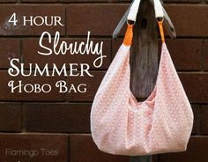Four-Hour Slouchy Hobo Bag – Free PDF + Tutorial : A sweet lace hobo bag complemented by a a contrasting zipper, and a fun bright lining with matching tabs for the strap. Hobo Bag Tutorials, Sewing Tutorials, Sewing Projects, Diy Projects, Purse Patterns, Sewing Patterns, Slouch Bags, Diy Sac, Diy Purse