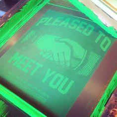 zeefdruk - carrousel - fluor groen - textiel - T-shirts - waterbasis - permaset - eco friendly - www.dekijm.nl
