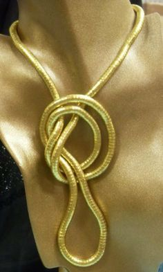 """36 inch 6mm thick Flexible Bendable Snake Jewelry Necklace Bracelet Bendy Chain Twistable Bendable Shape Design Gold Color by Trendy Bendy. $2.30. 36"""" long bendable stainless steel. necklace. Enjoy twisting it into countles shapes to form your own wearable art. You are the Ultimate Designer!"""