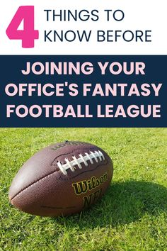 A reader wondered if she should join her office's fantasy football league -- when she hated the sport. Is it a good networking opportunity and a way to get closer to her (mostly male) colleagues -- or is this a recipe for disaster and frustration? Here are our top 4 things to know before joining the office fantasy football league (which you probably should do if you can)... #corporette #networking #officeculture #coworkers #colleagues