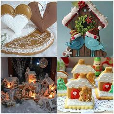Beautiful inspiration for decorated gingerbread