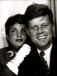 Jackie and John F. Kennedy.