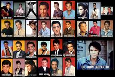 """Elvis Presley's character names in his 31 movies 1956 - 1969 