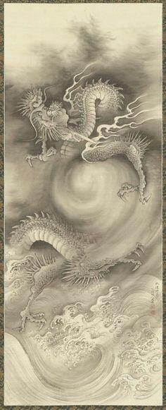 DRAGONS....BY NAKABAYASHI CHIKUTO....1776..1853....ON B-SIDES.....TUMBLR....PARTAGE OF KIRCHA....