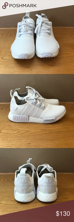 Men's adidas nmd r1/ triple white/ 10.5/new Men's adidas nmd r1 Condition: new with box Color: all white Size: Men 10.5 adidas Shoes Athletic Shoes