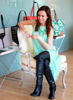 Sydne-Style-stella-dot-showroom-mint-black-leather-leggings-linden-necklace
