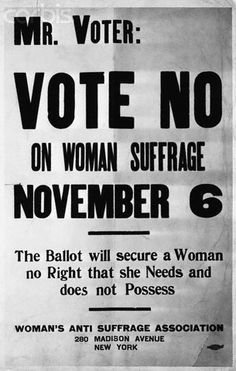 Anti-suffrage flyer-sadly, I think many current politicians feel this way
