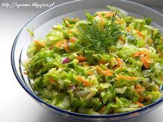 Vegetable Lunch, Healthy Salads, Healthy Recipes, Good Food, Yummy Food, Polish Recipes, Polish Food, Side Salad, Appetisers
