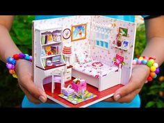 DIY Dollhouse Girl Bedroom - YouTube