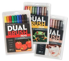 Tombow Dual Brush Pens feature two tips on each pen - flexible brush and fine tip in one.