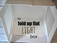 light box...diy & DIY Light box - this is a must if you are selling stuff on Etsy. I ... Aboutintivar.Com