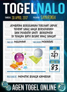 Kode Paito 2D Togel Wap Online TogelNalo Samarinda 30 April 2017