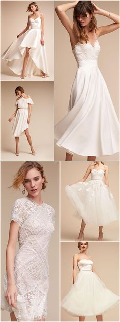 Featured Short Wedding Dress: BHLDN; www.bhldn.com #shortweddingdresses